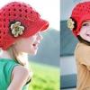 หมวกไหมพรมดอกไม้ สไตล์ยุโรป