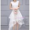 Z-0176 ชุดไปงานแต่งงานน่ารัก ลูกไม้ สุดหรู สวย เก๋น่ารัก ราคาถูก สีขาว แขนกุด