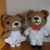 ตุ๊กตาถักคู่แต่งงาน 6 นิ้ว