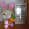 กระต่ายถือแครอท มินิอุซางิ สีชมพู