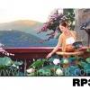 ภาพวาดแนวจริยศิลป์ล้านนา พิมพ์ลงผ้าใบ รหัสสินค้า RP - 36