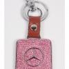 พวงกุญแจรถยนต์ยี่ห้อ BENZ สีเขียว Light Rose Peridot ( Benz Keyring in light rose color )