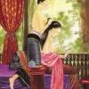 ภาพศิลปะล้านนา ชื่อภาพแม่หญิงแต่งตัว รหัสสินค้า A - 41