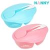 ชุดชามป้อนอาหารเด็กช่องแบ่งพร้อมช้อน Nanny Feeding Set Two Compartment Bowl with Spoon