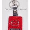 พวงกุญแจรถยนต์ยี่ห้อ MAZDA สีแดง Ruby ( Mazda Keyring in ruby color )