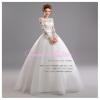 wm5096 ขาย ชุดแต่งงานแขนขาว ซีทรู เว้าหลัง สวยแบบเจ้าหญิง ดูดีที่สุดในโลก ราคาถูกกว่าเช่า