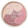 RIMMEL Match Perfection Blush 15g. (แท้ ใหม่ made in France) ริมเมลบลัช 3 เฉดสีในตลับเดียว ทั้งปัดแก้ม บรอนเซอร์ ครบใน 1 เดียว เนื้อแมททั้ง 3 เฉดมีประกายเล็กน้อย เฉดสี 001-Light