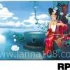 ภาพวาดแนวจริยศิลป์ล้านนา พิมพ์ลงผ้าใบ รหัสสินค้า RP - 15