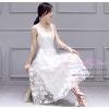 Z-0181 ชุดไปงานแต่งงานน่ารัก แนวหวานๆ สวย เก๋น่ารัก ราคาถูก สีขาว แขนกุด