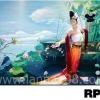 ภาพวาดแนวจริยศิลป์ล้านนา พิมพ์ลงผ้าใบ รหัสสินค้า RP - 10