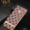 เคสมือถือ Huawei Ascend P9 - เคสนิ่มMoby รุ่นลายตารางขอบทอง [Pre-Order]