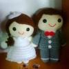 ตุ๊กตาคู่แต่งงาน ชายหญิง 6 นิ้ว