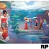 ภาพวาดแนวจริยศิลป์ล้านนา พิมพ์ลงผ้าใบ รหัสสินค้า RP - 02