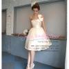 Q-0131 ชุดไปงานแต่ง พร้อมส่ง น่ารักสวย หวาน แบบคุณหนู ใส่ได้ทั้งงาน เช้า และ กลางคืน สีแชมเปญ