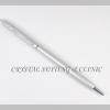 ปากกาครอสเทียมประดับคริสตัลสีเงิน ( Crystal Cross Pen )