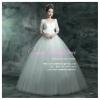 wm5071 ขาย ชุดแต่งงานเจ้าหญิง แขนยาว สวย หวาน หรู น่ารักมากค่ะ ราคาถูกกว่าเช่า