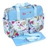 กระเป๋าสัมภาระคุณแม่สีฟ้าลายดอกไม้ สไตล์เกาหลี
