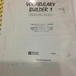 Vocabulary Builder 1 (ฉบับถ่ายสำเนา)