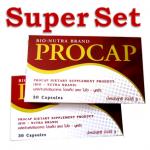 (ขายดี) Super Set (เซ็ทลดด่วน 5-7kg/เดือน) Procap 2กล่อง : อาหารเสริมลดน้ำหนัก ส่วนผสมนำเข้าจาก USA, สูตร3in1 บล็อกแป้ง เร่งเผาผลาญ พร้อมช่วยลดหิวระหว่างมื้อ ทานตัวเดียวจบ ครบทุกความต้องการ (อย.12-1-05150-1-0139)