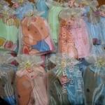 ผ้านาโนลายหมี 24*48 นิ้วใส่ถุงผ้าไหมไทย