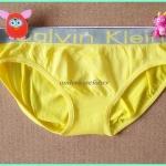 ชุดชั้นในผู้หญิง CK สีเหลืองขอบเทาพิมพ์logo ck