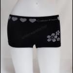 ชุดชั้นในผู้หญิง CK BOXER สีดำขอบใหญ่