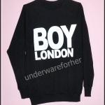 เสื้อยืด แขนยาว BOY LONDON สีดำ