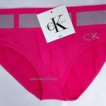 ชุดชั้นในผู้หญิง CK สีบานเย็นขอบใหญ่ลายเข็มขัด