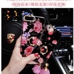 เคส Oppo R7 Lite - เคสนิ่มลายกุหลาบฟรุ้่งฟริ้ง แถมสาย [Pre-Order]