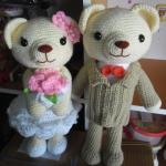 คู่หมีแต่งงาน 12 นิ้ว