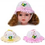 หมวกเด็ก ขอบระบาย Happy