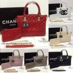 กระเป๋า Chanel ปากโค้ง หนังเย็บนวม โลโก้หน้า สายสะพายโซ่ 12 นิ้ว พร้อมกระเป๋าลูก เกรดพรีเมี่ยมค่ะ