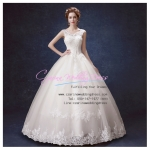 wm5053 ชุดแต่งงานแขนกุด คอวี สวย หวาน หรู ขายถูกกว่าเช่า