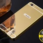 เคส Vivo V5 Lite - เคสขอบโลหะ ฝาหลังกระจกเงาสไลด์[Pre-Order]