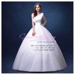wm5091 ขาย ชุดแต่งงานไหล่เดี่ยว ปักดอกไม้ สวย หรู ดูดีแบบเจ้าหญิง ราคาถูกกว่าเช่า
