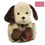 เซตผ้าห่มตุ๊กตาหมาน้อย Luvena Fortuna Plush Animal & Blanket
