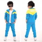 พร้อมส่งค่ะ ชุดเช็ต เสื้อแจ็กเก็ตแขนยาว + กางเกงขาวยาว สีฟ้าเหลือง สีสดใสมากค่ะ เหลือไซส์ 110/120/140/150