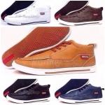 รองเท้า Levi's หนังเรียบ หุ้มข้อ สวย งานพรีเมียม ไซด์ 40-44