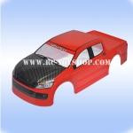 บอดี้รถบังคับ1/10อีซูซุฝากระโปงเคฟล่า(สีแดง)