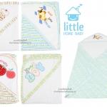 ผ้าห่อตัวเด็กคอตตอน 31x31 นิ้ว Little Home Baby