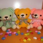 เซตหมีผูกโบว์ 7 นิ้ว 3 ตัว