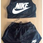 ชุดเสื้อกล้าม กางเกงขาสั้น NIKE สีดำ