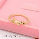 แหวนแฟชั่นเกาหลี แหวนเพชร Love