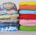 กางเกงผ้าอ้อม 12 ตัว/แพค แผ่นซับแบบไมโครไฟเบอร์