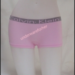 ชุดชั้นในผู้หญิง CK BOXER สีชมพูขอบเล็ก