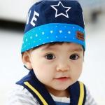 หมวกผูกหลังลายดาวเด็กแนว