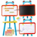 ชุดกระดานแม่เหล็ก+กระดานดำ Learning Easel 3in1