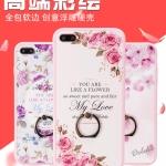 เคสมือถือ iPhone7Plus-เคสซิลิโคนสกรีนลายดอกไม้ [Pre-Order]