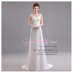 wm5028 ขาย ชุดแต่งงานวินเทจ โชว์แผ่นหลังสวยๆ สวยเก๋ ราคาถูก