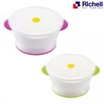 ถ้วยข้าวพร้อมฝาปิด Richell rice bowl with microwave cover